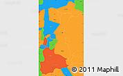 Political Simple Map of Granada
