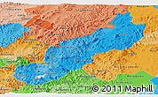 Political Shades Panoramic Map of Jinotega