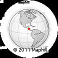 Outline Map of Lag.de Asososca