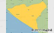 Savanna Style Simple Map of Leon