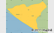 Savanna Style Simple Map of Leon, single color outside