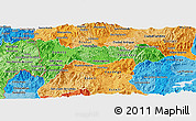 Political Shades Panoramic Map of Madriz