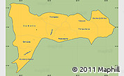 Savanna Style Simple Map of Madriz, cropped outside