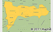 Savanna Style Simple Map of Madriz