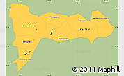 Savanna Style Simple Map of Madriz, single color outside
