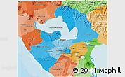 Political Shades 3D Map of Managua