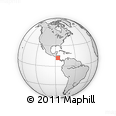 Outline Map of Managua