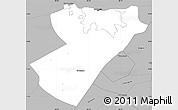Gray Simple Map of Managua