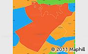 Political Simple Map of Managua