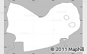 Gray Simple Map of Mateare