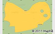 Savanna Style Simple Map of Mateare, single color outside