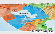 Political Shades Panoramic Map of Managua