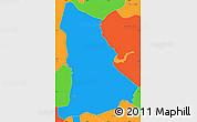 Political Simple Map of Tipitapa