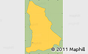 Savanna Style Simple Map of Tipitapa, cropped outside
