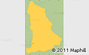 Savanna Style Simple Map of Tipitapa, single color outside