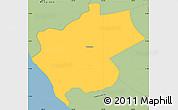 Savanna Style Simple Map of Villa Carlos Fonseca A