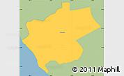Savanna Style Simple Map of Villa Carlos Fonseca A, single color outside
