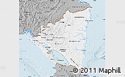 Gray Map of Nicaragua