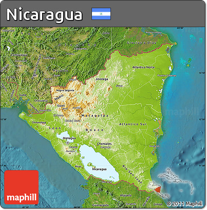 Nicaragua Satellite Map Images Reverse Search - Physical map of nicaragua