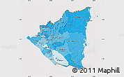 Political Shades Map of Nicaragua, cropped outside