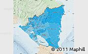 Political Shades Map of Nicaragua, lighten