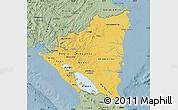 Savanna Style Map of Nicaragua