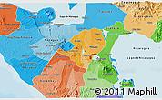 Political Shades 3D Map of Masaya
