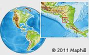 Physical Location Map of Masaya