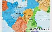 Political Shades Map of Masaya