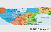 Political Shades Panoramic Map of Masaya