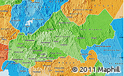 Political Shades Map of Matagalpa