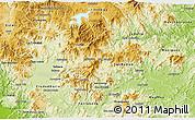 Physical 3D Map of Matagalpa