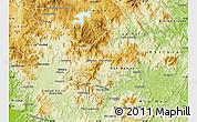 Physical Map of Matagalpa