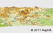 Physical Panoramic Map of Matagalpa