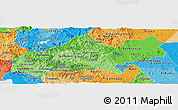 Political Shades Panoramic Map of Matagalpa