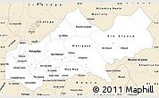 Classic Style Simple Map of Matagalpa