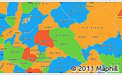 Political Simple Map of Matagalpa