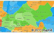 Political Shades Simple Map of Matagalpa