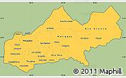 Savanna Style Simple Map of Matagalpa, cropped outside
