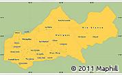Savanna Style Simple Map of Matagalpa, single color outside