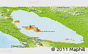 Political Panoramic Map of Nicaragua, physical outside