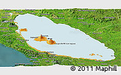 Political Panoramic Map of Nicaragua, satellite outside