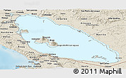 Shaded Relief Panoramic Map of Nicaragua