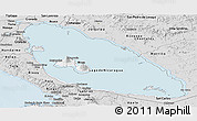 Silver Style Panoramic Map of Nicaragua