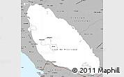 Gray Simple Map of Nicaragua