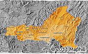 Political Shades 3D Map of Nueva Segovia, desaturated