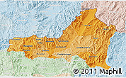 Political Shades 3D Map of Nueva Segovia, lighten