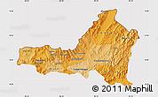 Political Shades Map of Nueva Segovia, cropped outside