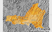 Political Shades Map of Nueva Segovia, desaturated
