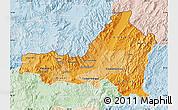 Political Shades Map of Nueva Segovia, lighten